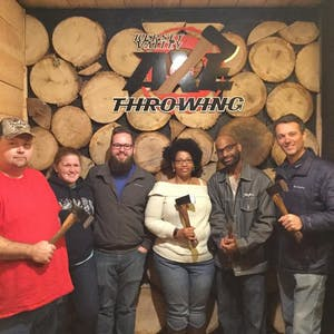 Axe Throwing Group photo