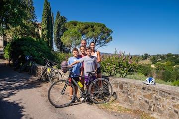 family bike tour tuscany half day