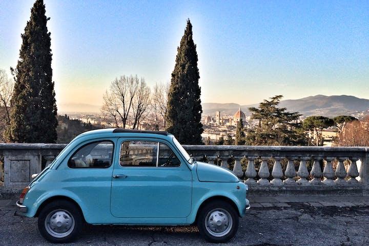 Fiat 500 blu
