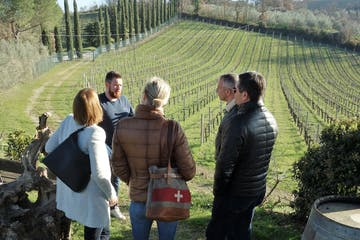 People at vineyard in tuscany