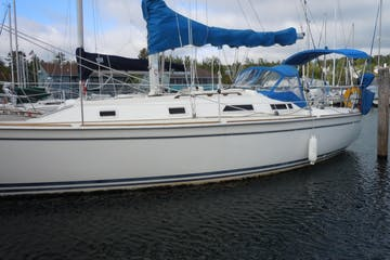 Side view of Harmony sailboat