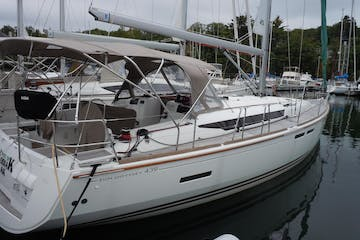 Photo of stern and cockpit of the Alyeska sailboat
