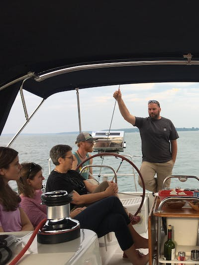 Superior Charters crew out on sailboat