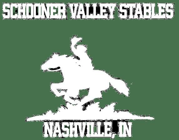 Schooner Valley Stables logo white
