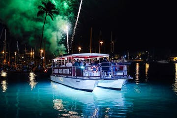 glass bottom boats firework tour