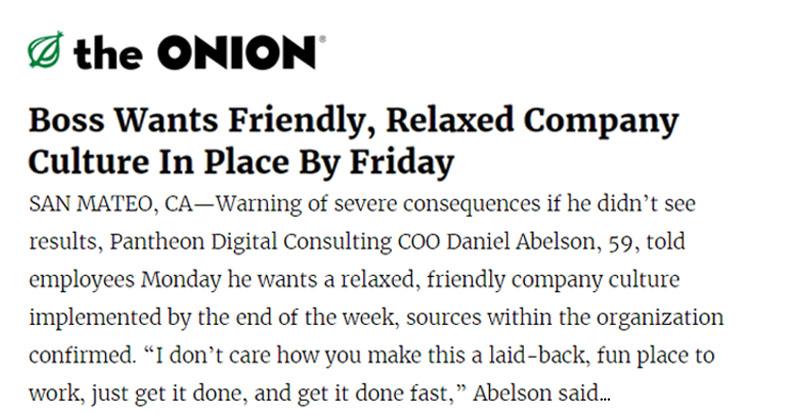The Onion article headline