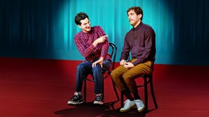 Ben Schwartz, Thomas Middleditch are posing for a picture