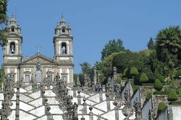 a statue of a church