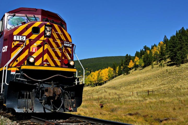 front of rio grande train