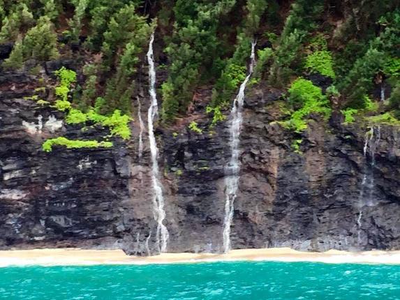 Waterfalls on Na Pali Coast