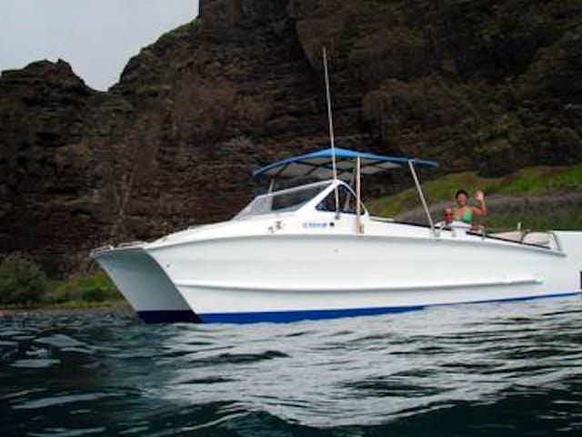 Boat off Na Pali Coast
