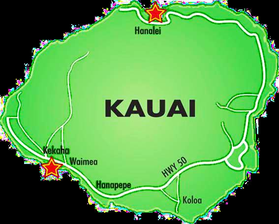napali tours map
