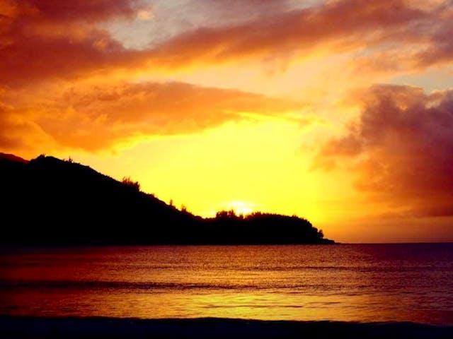 Sunset over Na Pali Coast