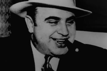 Al Capone smoking a cigar