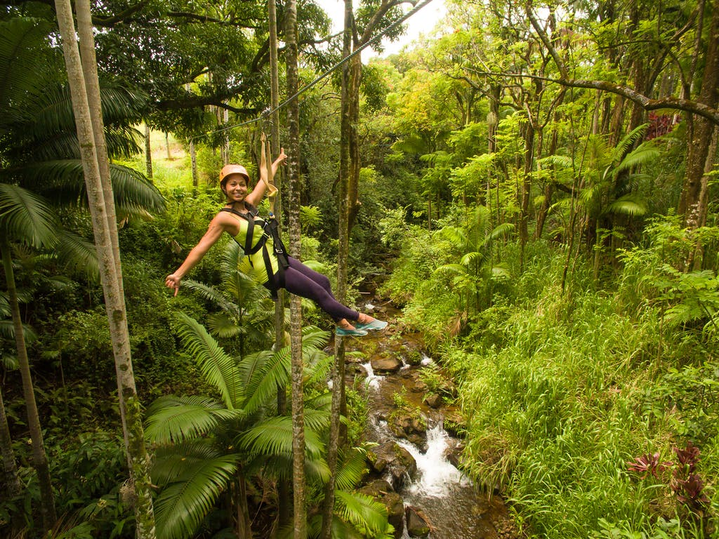 ziplines botanical world adventures hawaii
