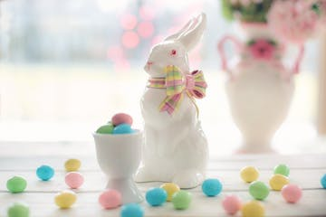 easter bunny and candy