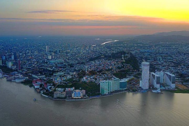 Sunset over Guayaquil