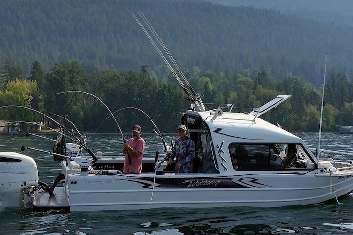 2 men on a boat