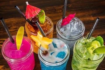 Cocktails at bar on Kauai, Hawaii