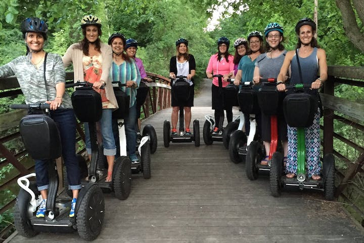 group of segway riders in a line