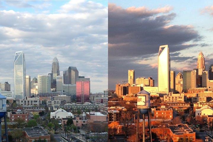 The Charlotte Skyline