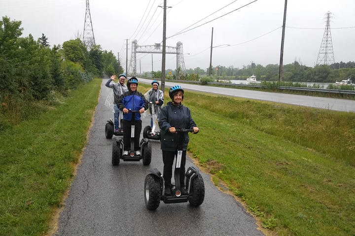 People on zdegways next to the Welland Canal