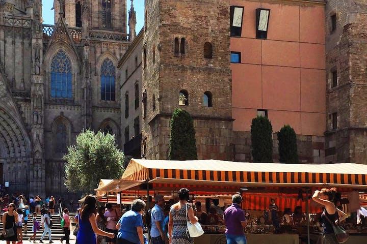 A square in Barcelona