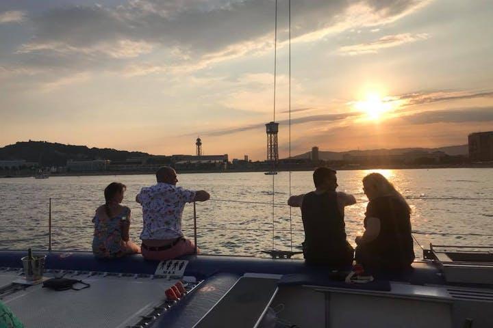 Sailing on board of Catamaran Orsom Barcelona