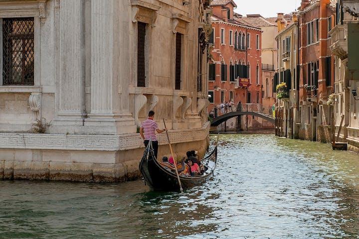Venice gondola small canal