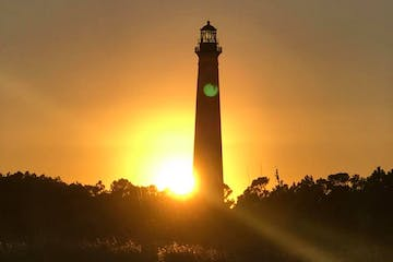 Cape Lookout lighthouse at sunset