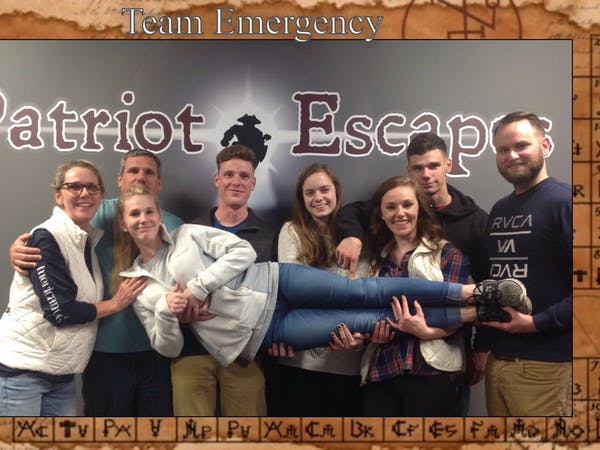 Group of escape room participants