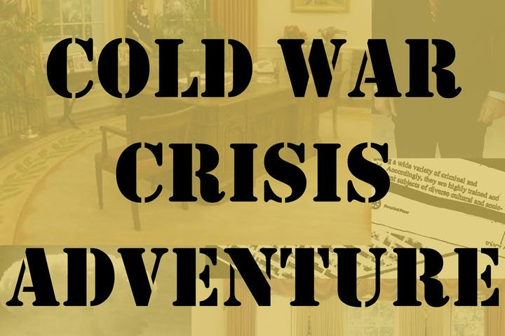 sign that says cold war crisis