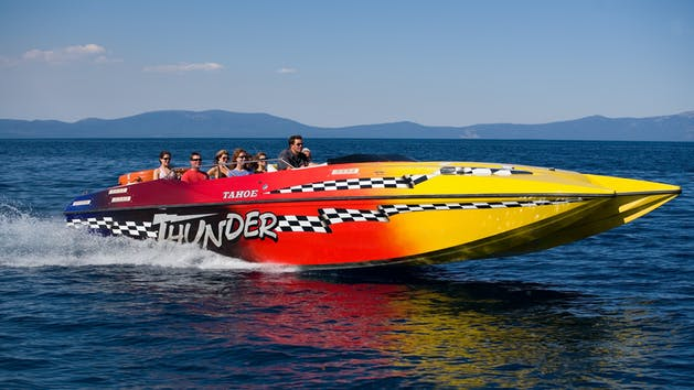 Tahoe Thunder Jet Boat Tour in action