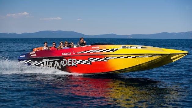 Tahoe Thunder Jet Speedboat Tour Action Watersports
