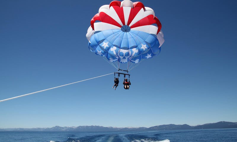 an emotional experience of parasailing in south lake tahoe It was an emotional experience that's far away from the sierra nevada, but she's excited for the change after being born and raised in south lake tahoe.