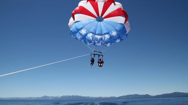 Parasailing with Action Watersports in Tahoe