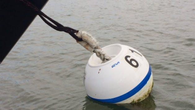 Mooring ball in Lake Tahoe