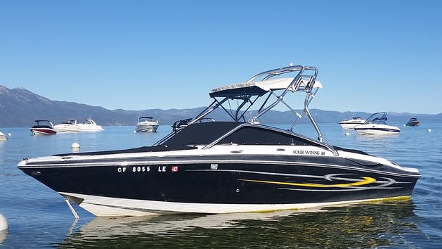 21' Four Winns Tower Boat Rental   Action Watersports