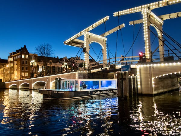 The Lounge sailing the canals at Amsterdam Light Festival