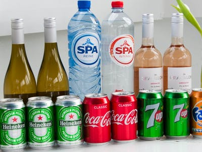 Selection of drinks for the Open Holland Bar