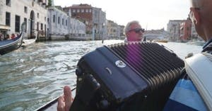 Accordian and canal view
