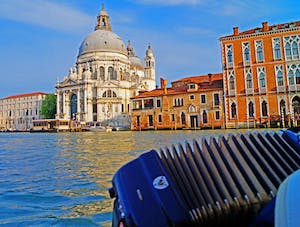 Accordian and Basilica di Santa Maria della Salute