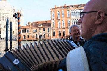 Man with accordion in Venice
