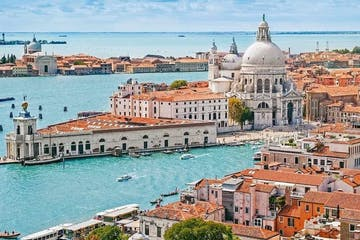 Aerial view of Venice on a sunny day