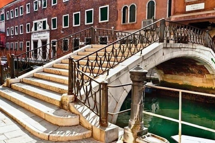 Bridge going over a canal in Venice