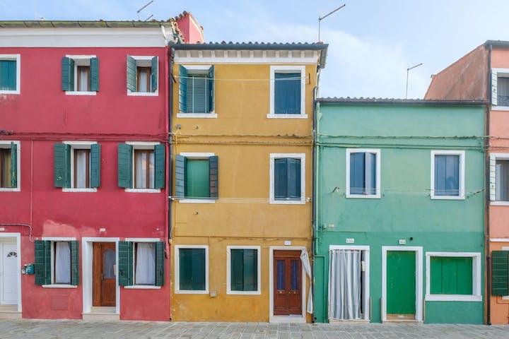 Colorful houses of Burano