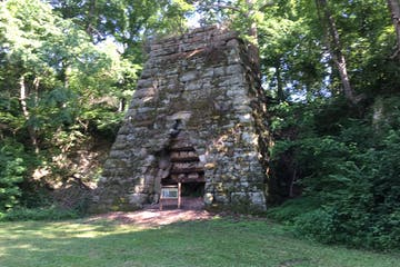 Moselle Iron Furnace in the wilderness