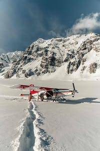Ski Plane in the Tasman Valley