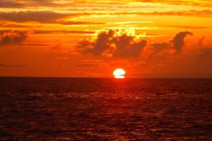 Sunset over Hawaii ocean