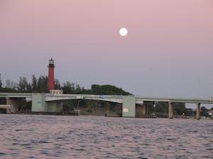 Full Moon on Jupiter Inlet waterways